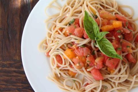 End of Summer Raw Heirloom Pasta Sauce