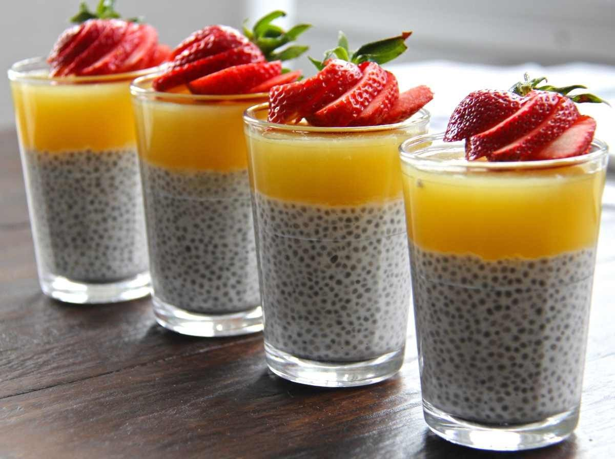 YES! Coconut Chia Pudding with Pineapple Gelée