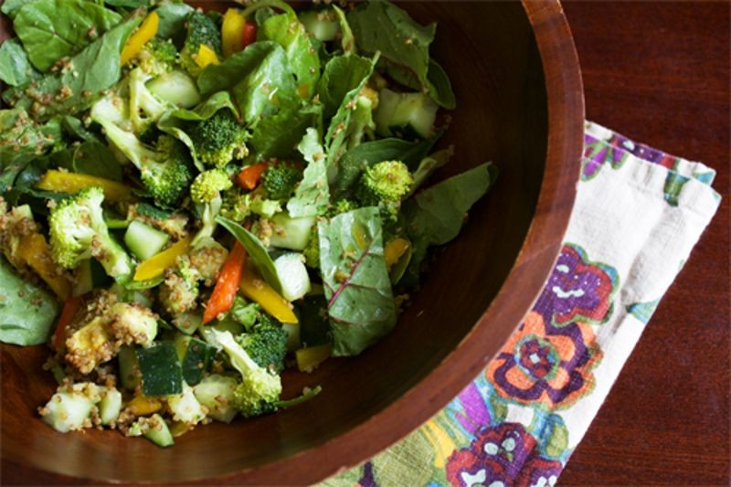 Seasonal Veggie Quinoa Salad with Pitta Churna Dressing