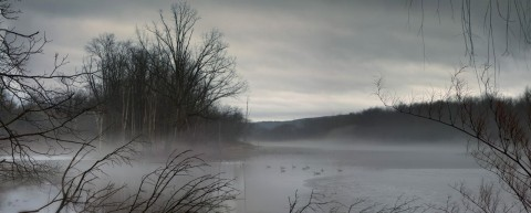Susquehanna River in Owego, NY photographed on December 28, 2018