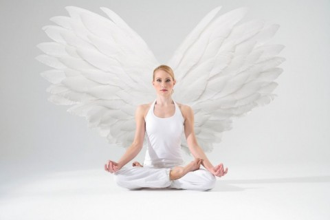 angel-in-meditation-picture-id117146656