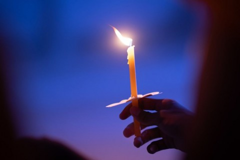 light-candle-buring-in-celebration-and-spirit-meditation-picture-id1004928324