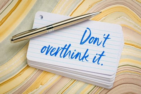 do-not-overthink-it-reminder-picture-id1155431558