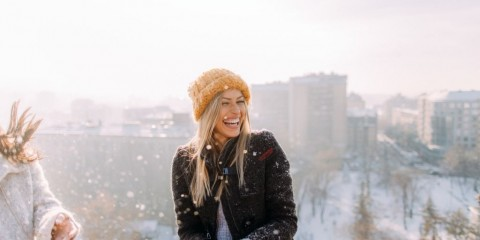 young-woman-enjoys-snowy-winter-picture-id1172741222