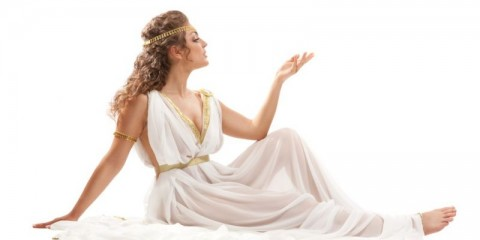 series-classical-greek-goddess-in-tunic-picture-id450207697