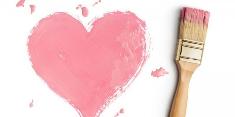 perfect-paintbrush-with-pink-heart-on-white-picture-id1156702512
