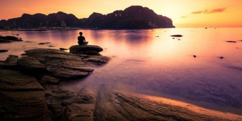 praying-on-the-rock-picture-id148773973