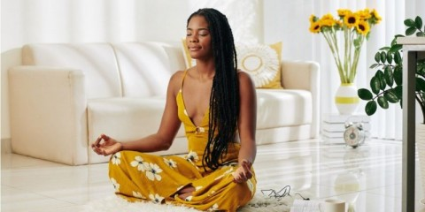 meditating-youn-woman-picture-id1203764522