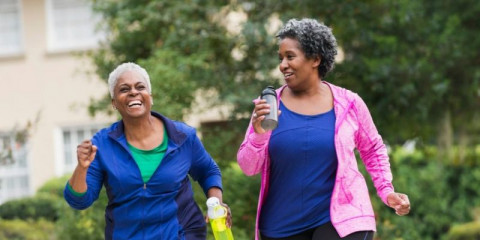 two-senior-black-women-exercising-together-picture-id472823202